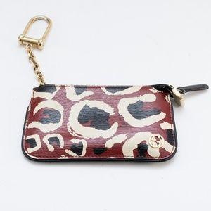 Gucci Leopard Gg Logo Leather Clip Key Case Pouch